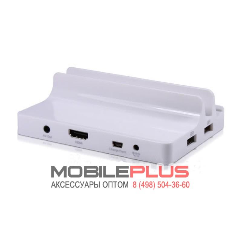 Док-станция для iPhone/iPad/iPad 2/3 (AV/TV/HDMI/USB-HUB 2 порта) с пультом