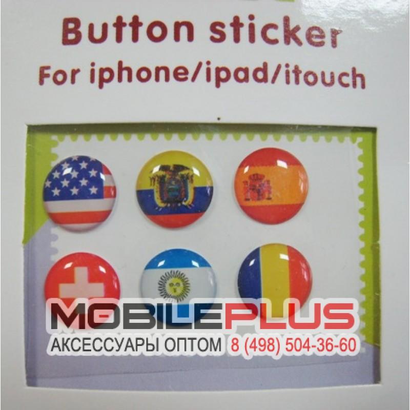 Декоративные наклейки на кнопку iPhone/iPad Вид 03