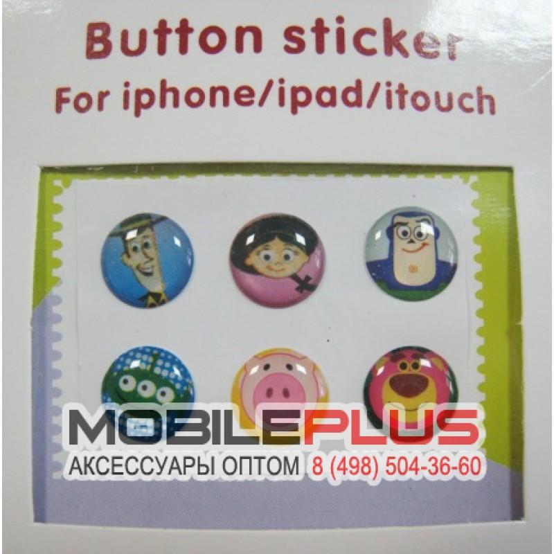 Декоративные наклейки на кнопку iPhone/iPad Вид 05