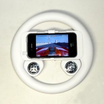 Игровой руль для iPhone 4G/4S с колонками