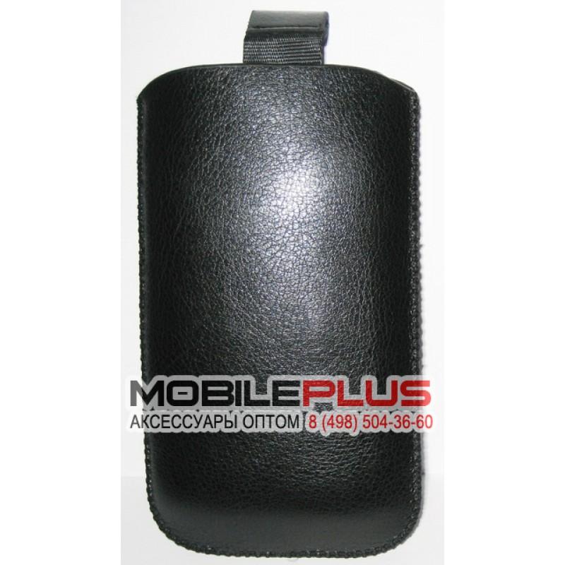 Футляр с языком кожзам IPhone 4G/HTC One V Black/Nokia N9 Вид2