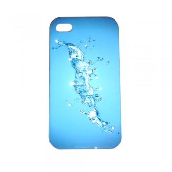 Накладка для iPhone 4/4S брызги со стразами вид 05