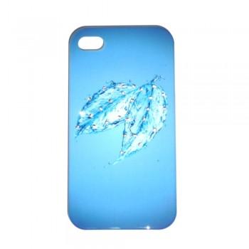 Накладка для iPhone 4/4S брызги со стразами вид 06