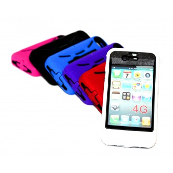 Накладка для iPhone 4/4S Sport  противоударная с подставкой