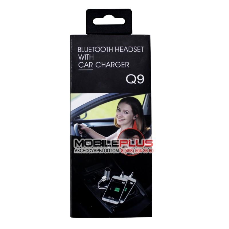 Bluetooth гарнитура OVEVO Q9 с автомобильной USB зарядкой