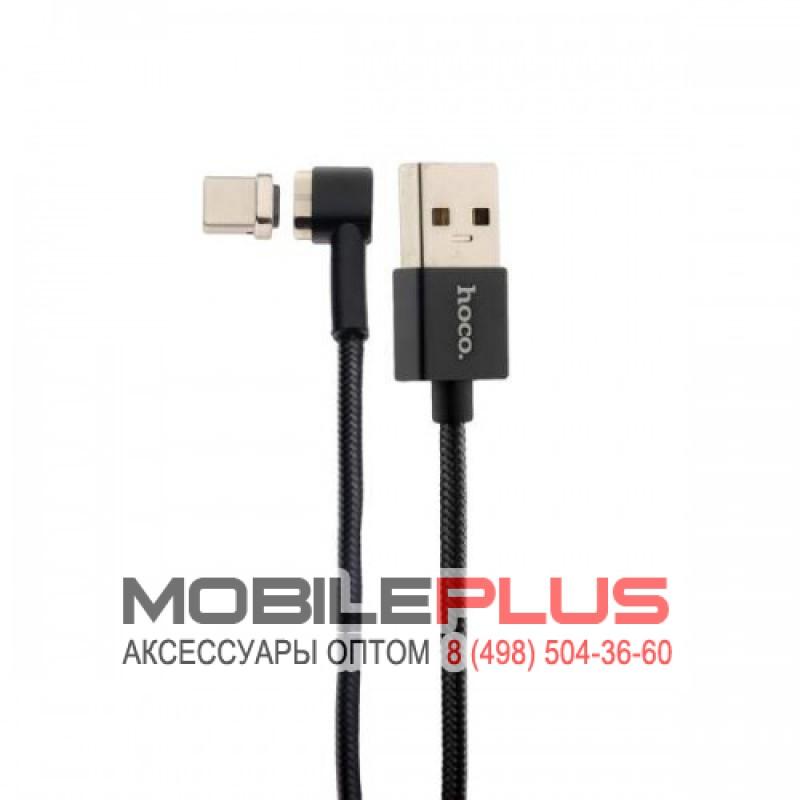 USB кабель 2в1 microUSB/ 8pin для iPhone 5/6/7 HOCO U20  L shape Magnetic adsorption  lightning+Micro charging cable set