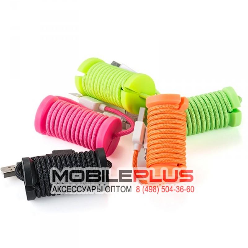 USB кабель 8pin для iPhone 5/6/7 HOCO U12 Silica assemble lightning charging cable