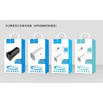 АЗУ 2в1 8pin для iPhone 5/6/7 HOCO Z12 2400mA
