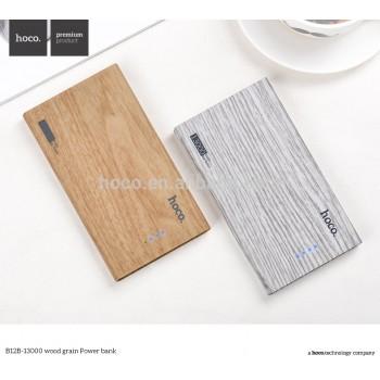 Дополнительный аккумулятор HOCO B12B Wood grain 13000mAh
