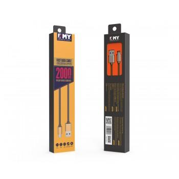 USB кабель 8pin для iPhone 5/6/7 EMY MY-448