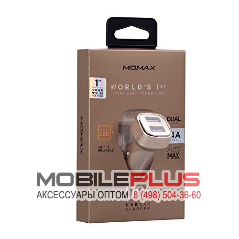 АЗУ с 2-мя USB выходами MOMAX UC4L 3400mA