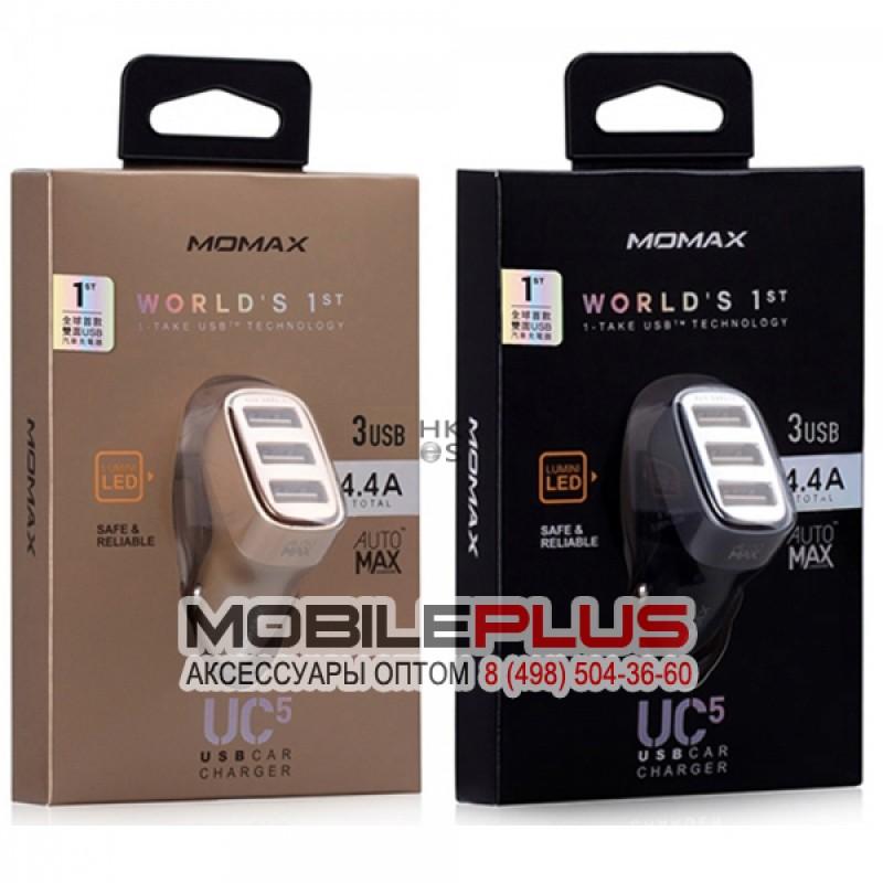 АЗУ с 3-мя USB выходами MOMAX UC5D 4400mA