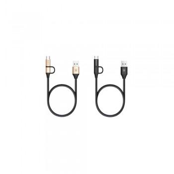 USB кабель  2в1 microUSB/type-c BASEUS Yiven 2-1 CAMTYW-1V 1м
