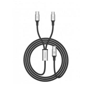 Type-c кабель  2в1 microUSB/8pin для iPhone 5/6/7 BASEUS CAMT-SU01 1.2м