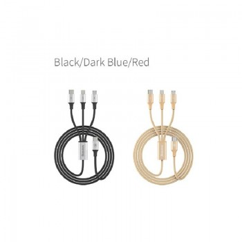 Type-c кабель  3в1 microUSB/8pin для iPhone 5/6/7/type-c BASEUS CAMLT-SU0V 1.2м