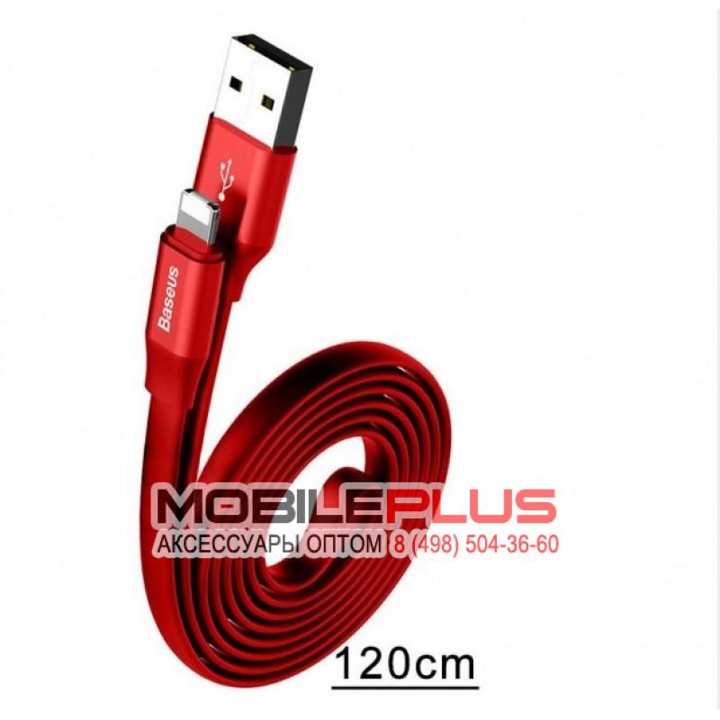 USB кабель 8pin для iPhone 5/6/7 BASEUS Nimble CALMBJ-A09 1.2м