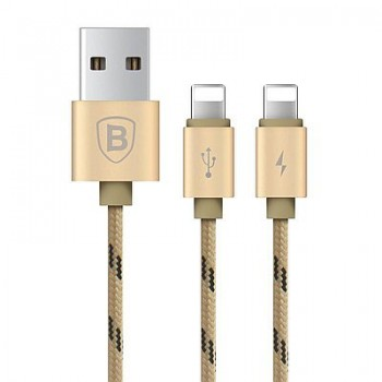 USB кабель 2в1 microUSB/8pin для iPhone 5/6/7 BASEUS CAMCLG-BPN0V 1.2м