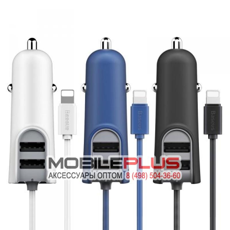 АЗУ с 2-мя USB выходами для iPhone 5/6/7 BASEUS Energy Staton With Line Multi CCNL-02 1м