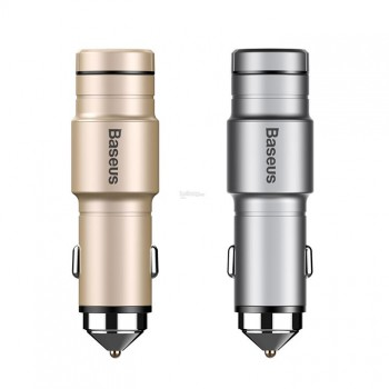 Автомобильная Bluetooth гарнитура с USB выходом BASEUS Wireless Earphone Intelligent CCBKER-0V 2400mA
