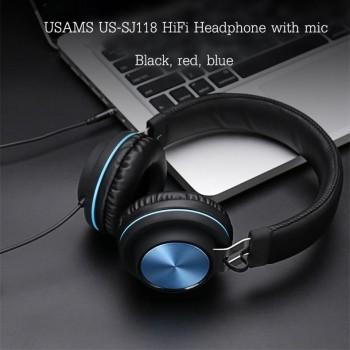 Наушники  USAMS Wire controlled Headphone- Xenia Series US-SJ118