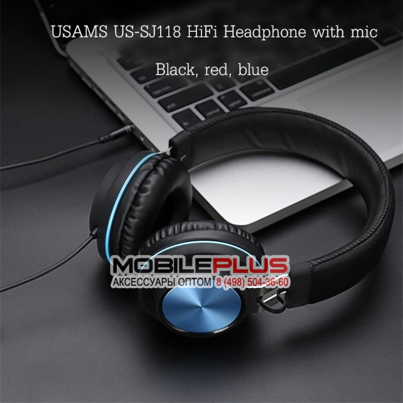 Наушники  USAMS Wire controlled Headphone- Xenia Series US-SJ118