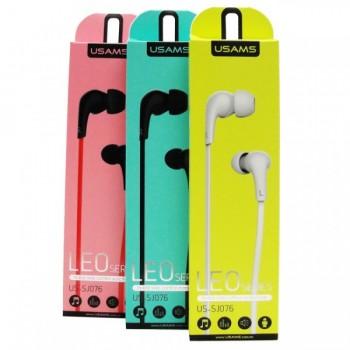 Наушники с микрофоном USAMS In Ear Line Control Earphone Leo Series US-SJ076