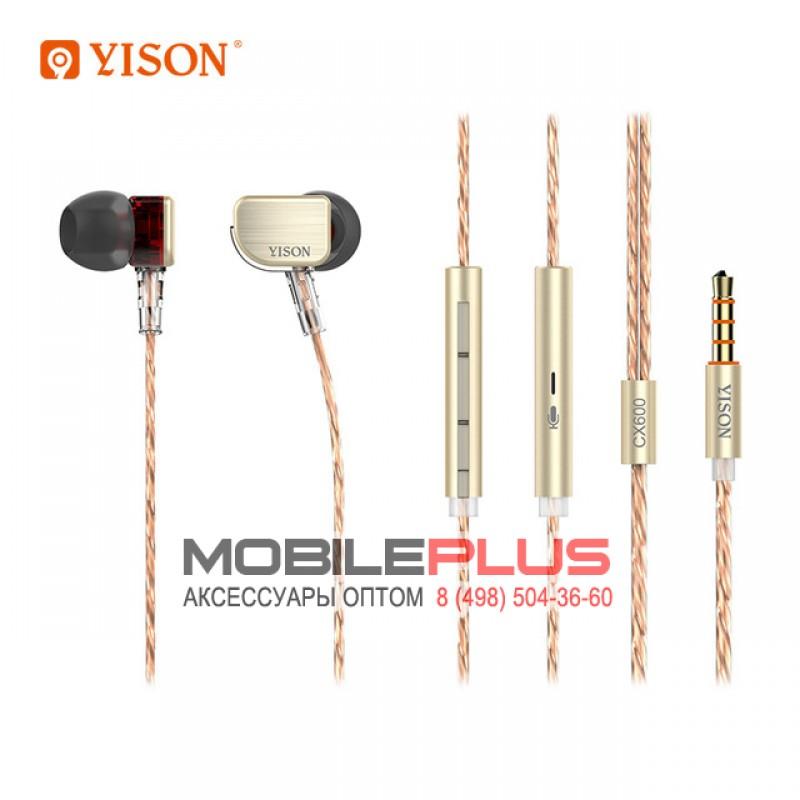 Наушники с микрофоном YISON CX600