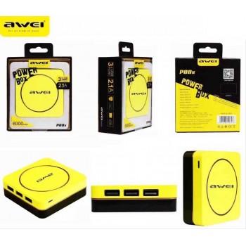 Дополнительный аккумулятор PowerBanK AWEI P88K 6000mah