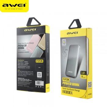 Дополнительный аккумулятор PowerBanK AWEI P20K 8000mah