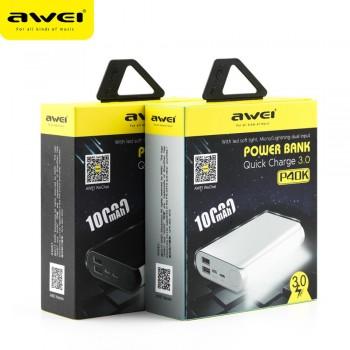 Дополнительный аккумулятор PowerBanK AWEI P40K 10000mah