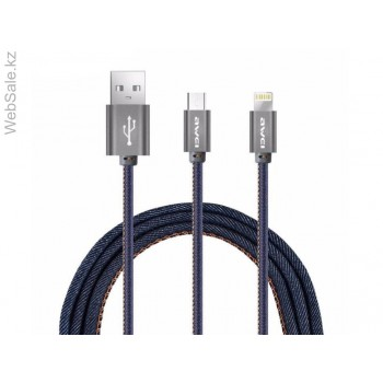 USB кабель 2в1 microUSB/iPhone 5/6/7 AWEI CL-987