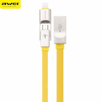USB кабель 2в1 microUSB/iPhone 5/6/7 AWEI CL-989
