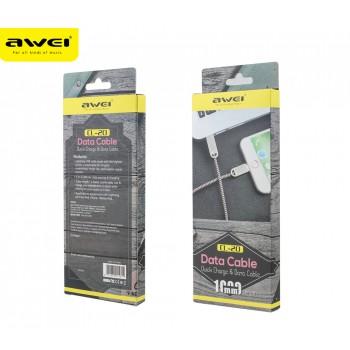 USB кабель 8pin для iPhone 5/6/7 AWEI CL-20