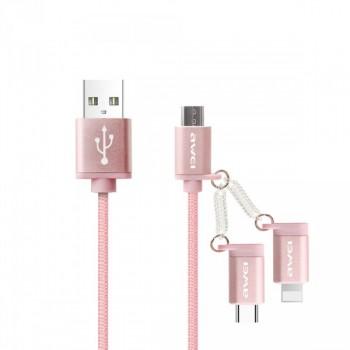 USB кабель 2в1 microUSB/type-c AWEI CL-990