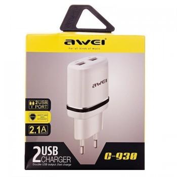 СЗУ с 2-мя USB выходами AWEI C-930 2100mA