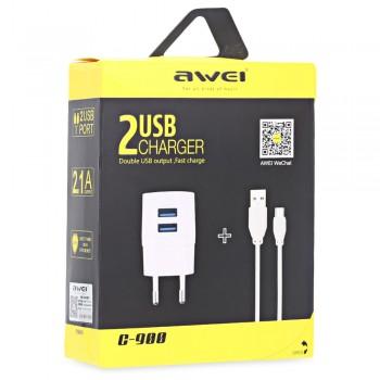 СЗУ с 2-мя USB выходами AWEI C-900 2100mA