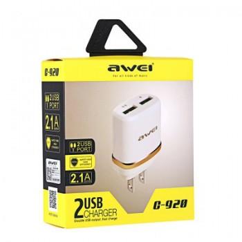 СЗУ с 2-мя USB выходами AWEI C-920 2100mA