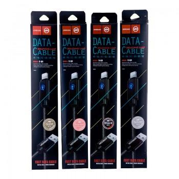 USB кабель 8pin для iPhone 5/6/7 JOYROOM with LED light S-Q4 2M