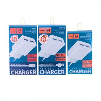 СЗУ с USB выходом 8pin для iPhone 5/6/7 JOYROOM UM2  EU 2A  (EU) L-L221