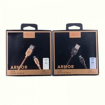 USB кабель 8pin для iPhone 5/6/7 Recci Armor RCL-T25