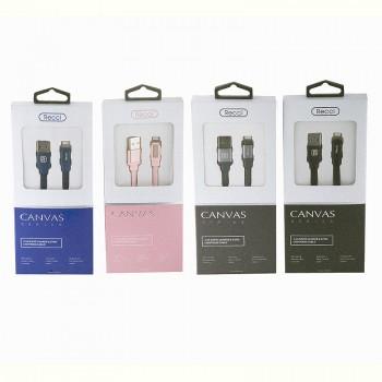 USB кабель 8pin для iPhone 5/6/7 Recci Canvas RCL-Y100