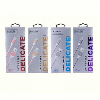USB кабель 8pin для iPhone 5/6/7 Recci Delicate RCL-H100