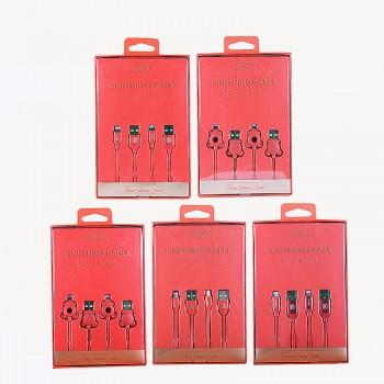 USB кабель 8pin для iPhone 5/6/7 Recci Fabrics COMBO RCL-I18/ RCL-I168