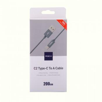USB кабель type-c Rock C2 type C to A cable 2m