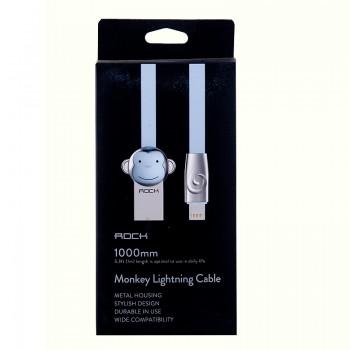 USB кабель 8pin для iPhone 5/6/7 Rock Chinese Zodiac  lightning cable Monkey-White
