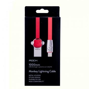 USB кабель 8pin для iPhone 5/6/7 Rock Chinese Zodiac  lightning cable Monkey-Red