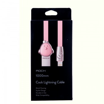 USB кабель 8pin для iPhone 5/6/7 Rock Chinese Zodiac  lightning cable Cook-Pink