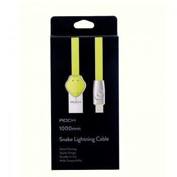 USB кабель 8pin для iPhone 5/6/7 Rock Chinese Zodiac  lightning cable Snake-Green