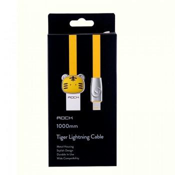 USB кабель 8pin для iPhone 5/6/7 Rock Chinese Zodiac  lightning cable Tiger-Yellow