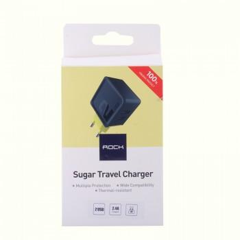 СЗУ с 2-мя USB выходами Rock Sugar Travel Charger (2-Port)